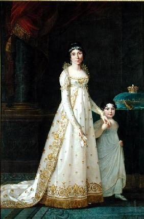 Portrait of Marie-Julie Clary (1777-1845) Queen of Naples with her daughter Zenaide Bonaparte (1801-