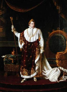 Portrait of Napoleon (1769-1821) in his Coronation Robes