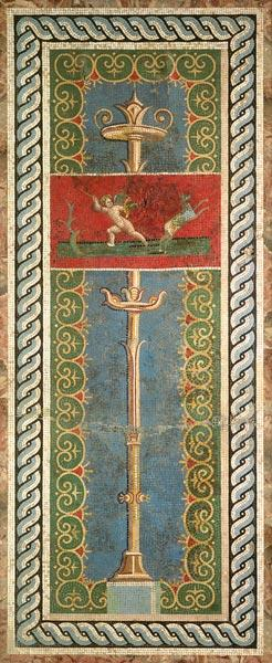 Candelabra with ornamental motif (mosaic)