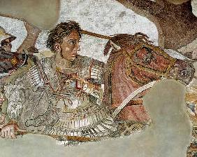 The Alexander Mosaic, detail depicting Alexander the Great (356-323 BC) at the Battle of Issus again
