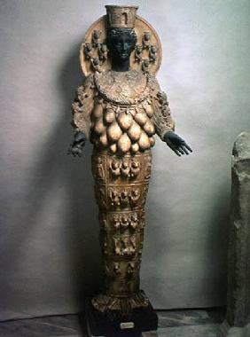 Artemis of Ephesus (bronze & alabaster)