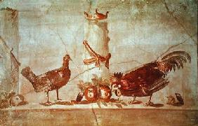 Cock, Chicken and Fruit, found at Herculaneum