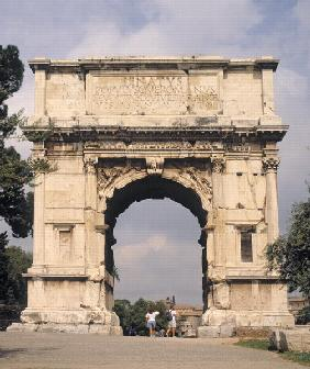 The Arch of Titus, built 81 AD (photo)