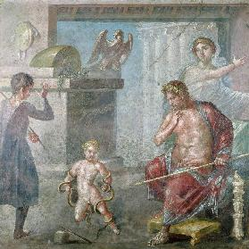 Hercules strangling the serpents as a child, Casa dei Vettii