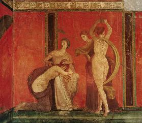 Scourged Woman and Dancer with Cymbals, South Wall, Oecus 5