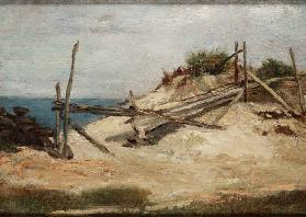 Landscape with Dunes and Fence