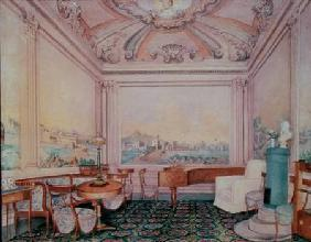 Interior of the reception room in a manor house