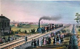 Opening of the First Railway Line from St. Petersburg to Pavlovsk