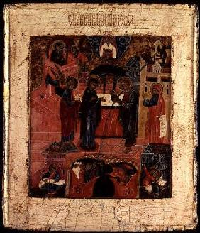Russian icon of the Presentation of Christ in the Temple