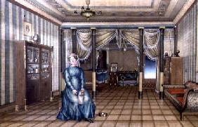 A Spinster in a Neo-Classical Sitting Room Interior