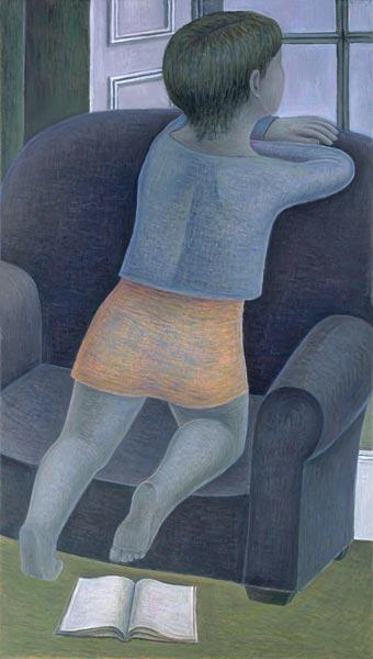 Girl on Chair, 2002 (oil on canvas)