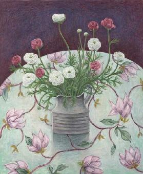 Flowers on Flowers, 2003 (oil on canvas)