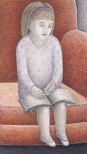 Wee Reader, 2005 (oil on canvas)