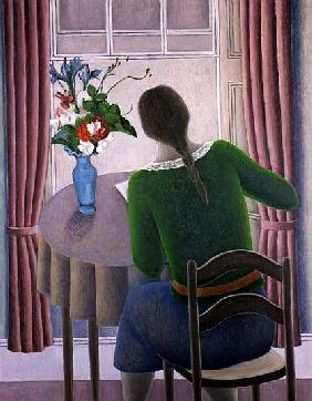 Woman at Window, 1998 (oil on canvas)