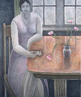 Woman with Small Cup, 2007 (oil on canvas)