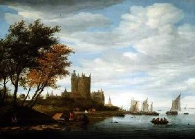 River Estuary with a castle