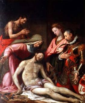 The Deposition of Christ with St. John the Baptist, St. Catherine of Alexandria and a Donor
