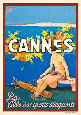 Poster advertising Cannes,