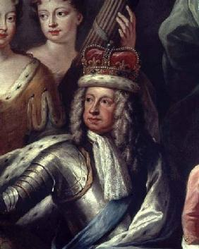 Detail of George I from the Painted Hall, Greenwich