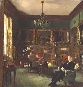 Otto Beit in his study at Belgrave Square