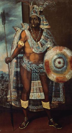 Portrait of an Aztec king