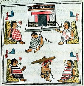 Ms. Palat. 218-220 Book IX Judgement and Punishment in the Aztec empire, from the ''Florentine Codex