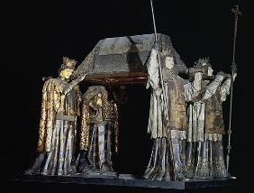 The tomb of Christopher Columbus (carved wood)