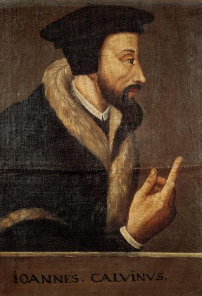 Portrait of John Calvin (1509-64) French theologian and reformer