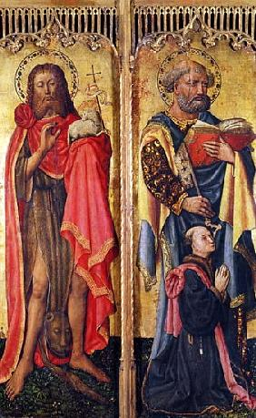 St. John the Baptist and St. Peter, from the Altarpiece of Pierre Rup, c.1450