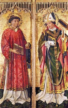 St. Stephen and St. Blaise, from the Altarpiece of Pierre Rup, c.1450