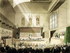 Court of King''s Bench, Westminster Hall, from ''The Microcosm of London''; engraved by J. Black (fl