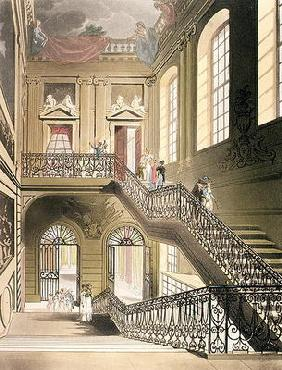 The Hall and Staircase from the British Museum from Ackermann's 'Microcosm of London'