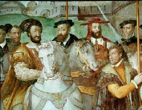 Detail from The Solemn Entrance of Emperor Charles V (1500-58), Francis I (1494-1547) and Alessandro