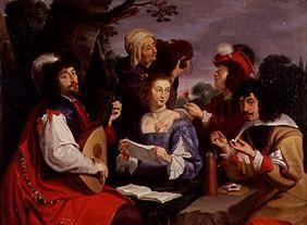 The five senses (high society when playing instruments in a park)
