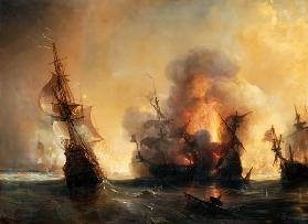 The Naval Battle of Lagos on 27 June 1693
