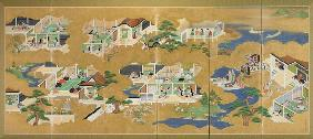 Various Scenes Of The Tale Of Genji