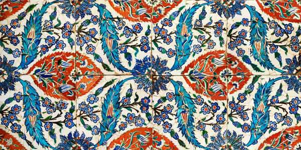 Eight Composite Iznik Polychrome Square Tiles, Circa 1575