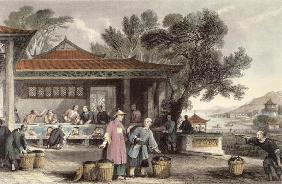 The Culture and Preparation of Tea, from 'China in a Series of Views' by George Newenham Wright (c.1