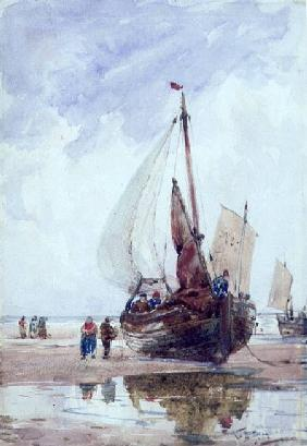 A Beached Fishing Smack