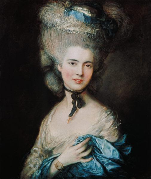 A Woman in Blue (Portrait of the Duchess of Beaufort)