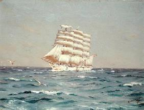 The 'Viking', a four-masted Barque Under Full Sail