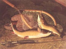 Still Life with a Salmon Trout, a Rod and a Net