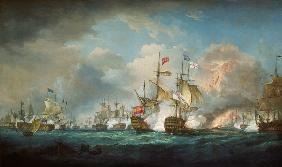 The naval battle of Trafalgar on October 21st, 1805.