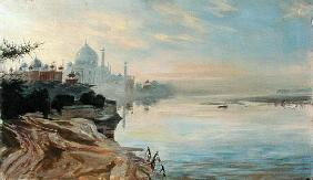 Taj Mahal, Agra, 2001 (oil on canvas)