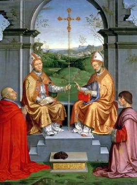 St. Thomas a Becket and St. Martin of Tours with Archbishop Giovanni Pietro Arrivabene and Guidobald