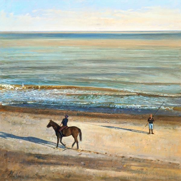 Beach Dialogue, Dunwich (oil on canvas)