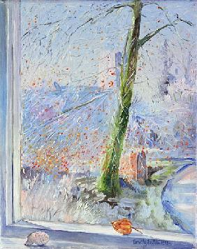 Beech Tree and Haw Frost, 1989 (oil on canvas)