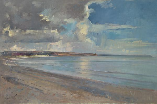 Reflected Clouds, Oxwich Beach, 2001 (oil on canvas)