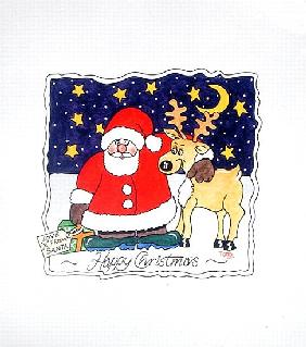Love from Santa, 2005 (w/c on paper)