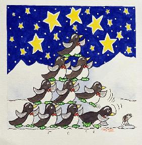 Penguin Formation, 2005 (w/c on paper)